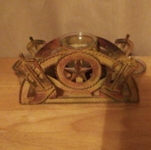 Cowboy boot three candle holders